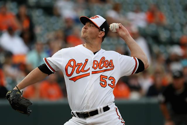Relief pitcher Zach Britton appears to be headed to the New York Yankees. (Getty Images)