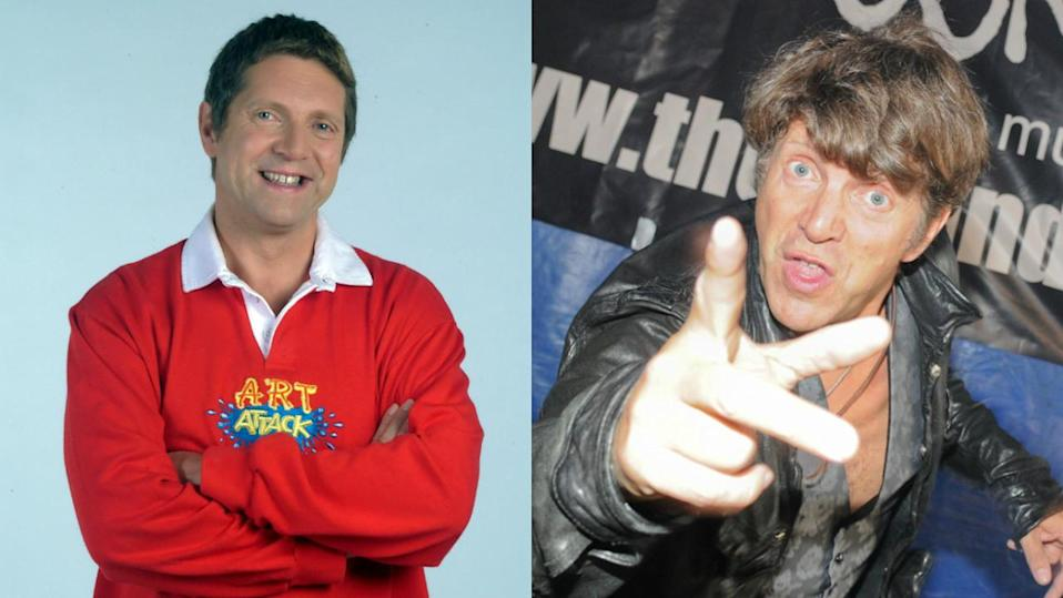 """<p>The Art Attack star, 54, still does some artwork and can boast that Queen Elizabeth once described his work as """"ingenious"""", but is also a rocker these days. He plays guitar in his rock group Marseille. <i>Copyright [ITV/REX/Shutterstock - Graham Harries/REX/Shutterstock]</i></p>"""