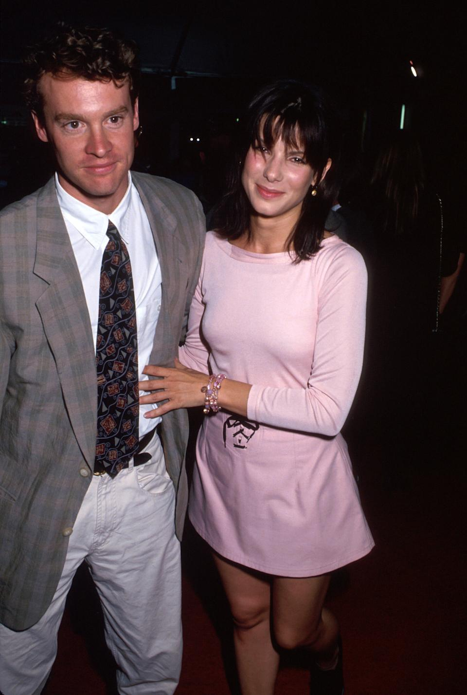 Actors Tate Donovan and Sandra Bullock.  (Photo by Time Life Pictures/DMI/The LIFE Picture Collection via Getty Images)