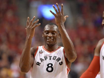 Bismack Biyombo will likely be an unrestricted free agent in July. (AP)