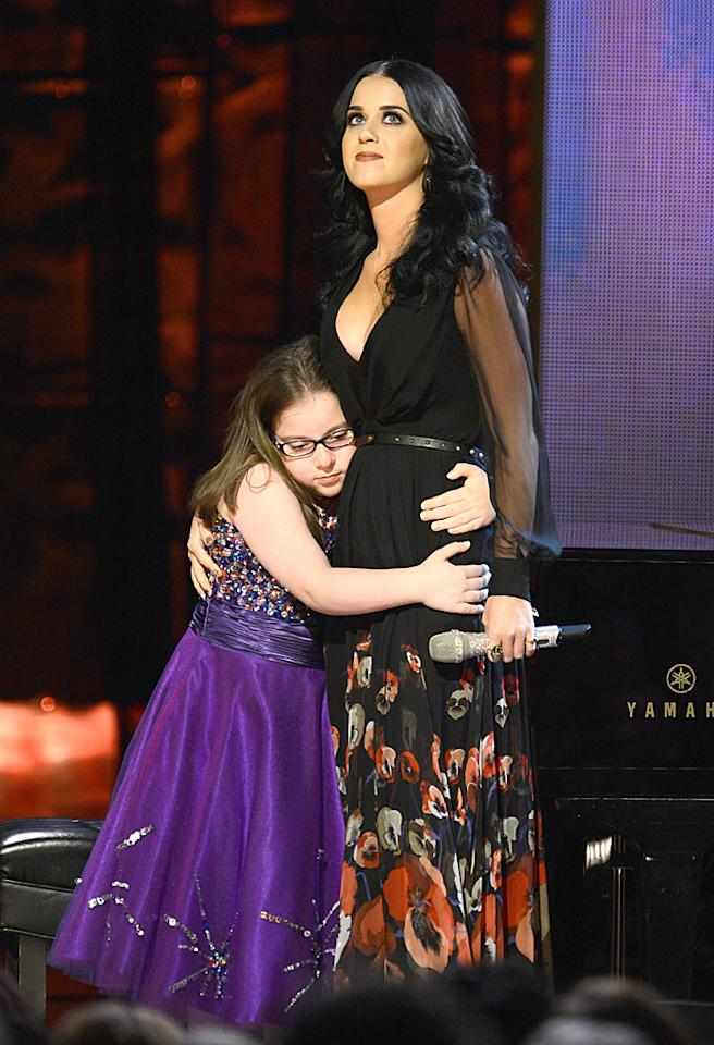NEW YORK, NY - OCTOBER 13:  Katy Perry performs onstage at Comedy Central's night of too many stars: America comes together for autism programs at The Beacon Theatre on October 13, 2012 in New York City.  (Photo by Dimitrios Kambouris/Getty Images)