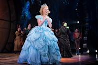 <p>Pictured: Ginna Claire Mason and Lindsay Pearce taking their bows at curtain call to much applause. </p>