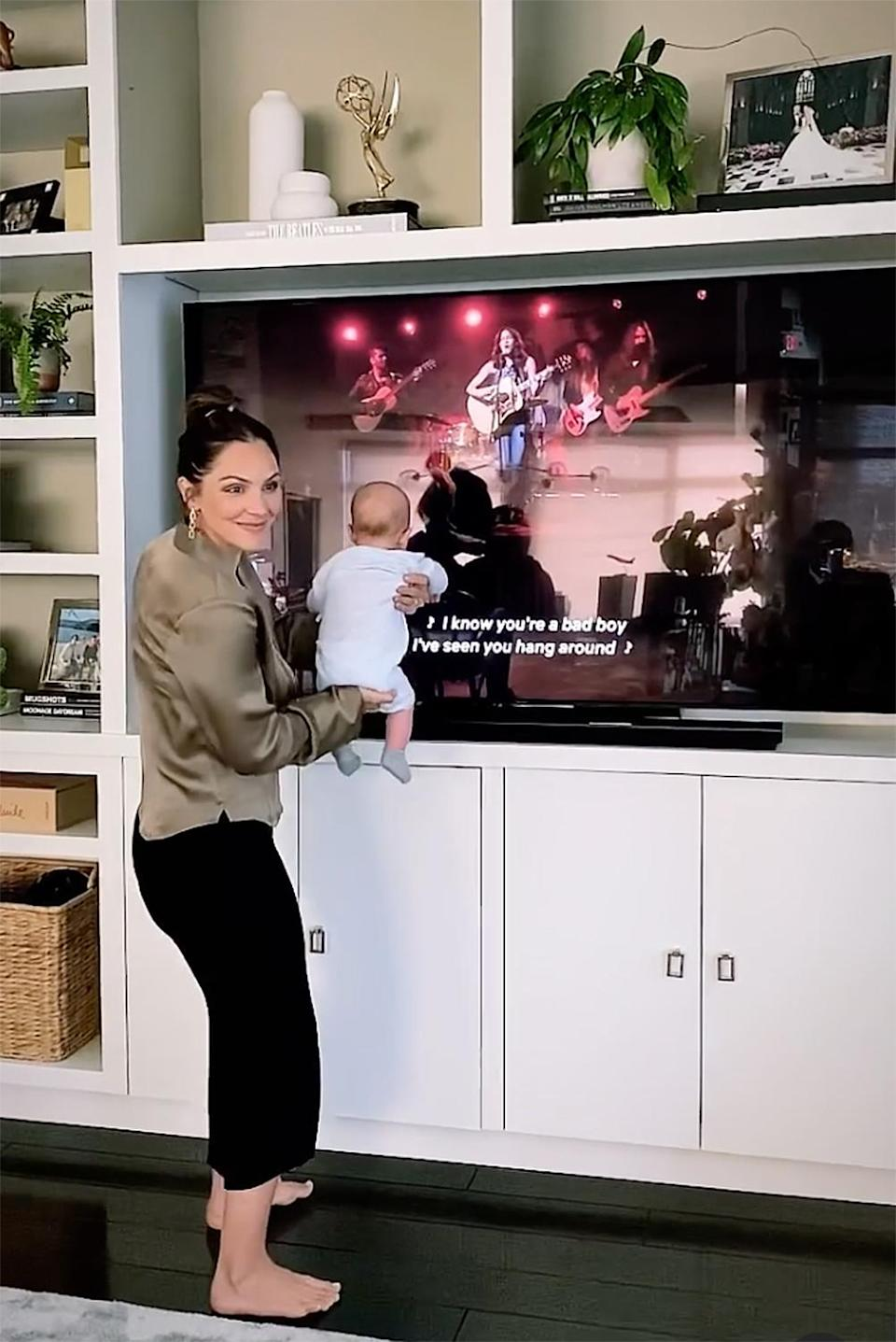 """<p><a href=""""https://people.com/tag/katharine-mcphee/"""" rel=""""nofollow noopener"""" target=""""_blank"""" data-ylk=""""slk:Katharine McPhee"""" class=""""link rapid-noclick-resp""""> Katharine McPhee</a> finds being a new mom comes """"natural"""" to her.</p> <p>The <a href=""""https://people.com/tag/american-idol/"""" rel=""""nofollow noopener"""" target=""""_blank"""" data-ylk=""""slk:American Idol"""" class=""""link rapid-noclick-resp""""><i>American Idol </i></a>alum welcomed newborn son <a href=""""https://people.com/parents/katharine-mcphee-welcomes-first-child-husband-david-foster-son/"""" rel=""""nofollow noopener"""" target=""""_blank"""" data-ylk=""""slk:Rennie David"""" class=""""link rapid-noclick-resp"""">Rennie David</a> with husband David Foster in February. </p> <p>""""It just feels so natural,""""McPhee <a href=""""https://people.com/parents/katharine-mcphee-motherhood-greatest-job-will-ever-have/"""" rel=""""nofollow noopener"""" target=""""_blank"""" data-ylk=""""slk:told PEOPLE in April"""" class=""""link rapid-noclick-resp"""">told PEOPLE in April</a>. """"I've <a href=""""https://people.com/parents/katharine-mcphee-david-foster-reveals-newborn-baby-son-name/"""" rel=""""nofollow noopener"""" target=""""_blank"""" data-ylk=""""slk:had a really good baby"""" class=""""link rapid-noclick-resp"""">had a really good baby</a>; he's been so good. I'm so in love!""""</p> <p>The singer added, """"I'm a little bit tired here and there but I find times to nap... he's such a good little baby and I'm so in love ... It's my greatest job I'll ever have.""""</p> <p>In March, the <em>Country Comfort</em> actress also <a href=""""https://people.com/parents/katharine-mcphee-talks-motherhood-son-rennie-netflix-series-country-comfort-exclusive/"""" rel=""""nofollow noopener"""" target=""""_blank"""" data-ylk=""""slk:opened up to PEOPLE"""" class=""""link rapid-noclick-resp"""">opened up to PEOPLE</a> about loving her mom bod and the happiness of welcoming a new child.</p> <p>""""I thought I would have this pressure [to bounce back] but I've just been so grateful and happy that I've had a healthy baby and I've felt really good, emotionally and physically... I'm s"""