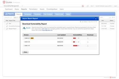 Qualys integrates with Azure Stack for infrastructure assessment.