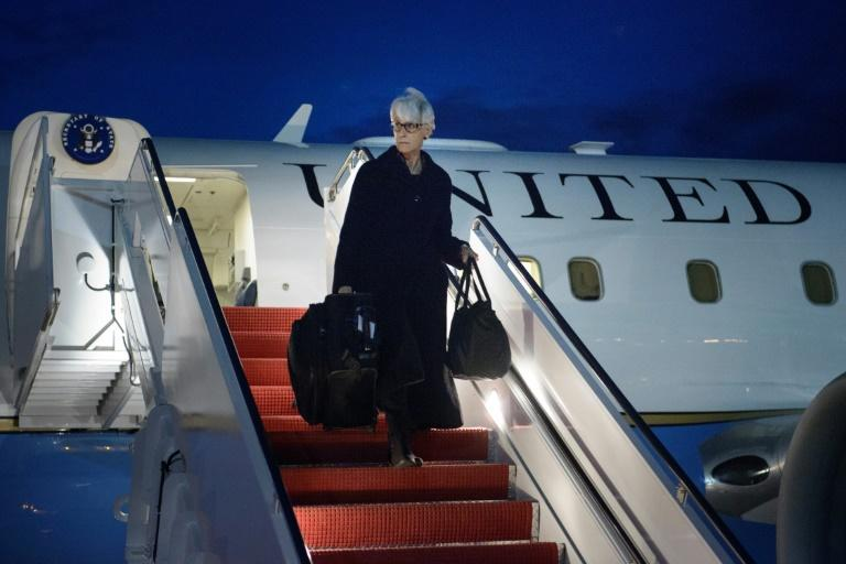 Wendy Sherman, seen in April 2015 as she returned from negotiations with Iran, is being nominated deputy secretary of state by President-elect Joe Biden