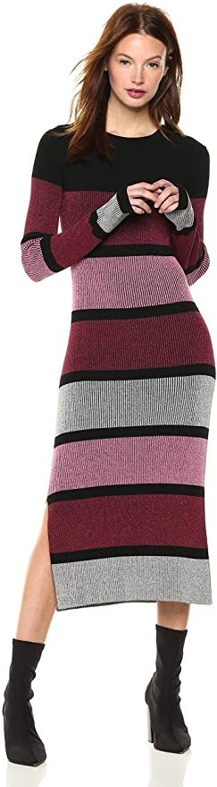 """<br><br><strong>Cable Stitch</strong> Stripe Ribbed Dress, $, available at <a href=""""https://amzn.to/3nR4UlE"""" rel=""""nofollow noopener"""" target=""""_blank"""" data-ylk=""""slk:Amazon"""" class=""""link rapid-noclick-resp"""">Amazon</a>"""