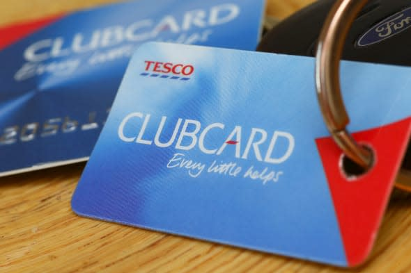 A general view of a Tesco Clubcard