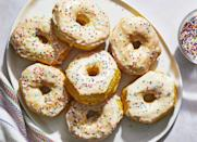 "<p><strong>Recipe: <a href=""https://www.southernliving.com/recipes/air-fryer-donuts"" rel=""nofollow noopener"" target=""_blank"" data-ylk=""slk:Air Fryer Donuts"" class=""link rapid-noclick-resp"">Air Fryer Donuts</a></strong></p> <p>We love trying out new recipes in our Air Fryers, and this one is going to be a hit with the kids come weekend brunch.</p>"