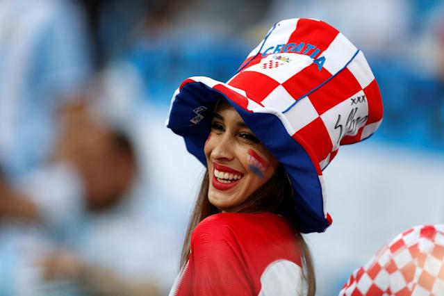 Soccer Football - World Cup - Group D - Argentina vs Croatia - Nizhny Novgorod Stadium, Nizhny Novgorod, Russia - June 21, 2018 Croatia fan before the match REUTERS/Matthew Childs