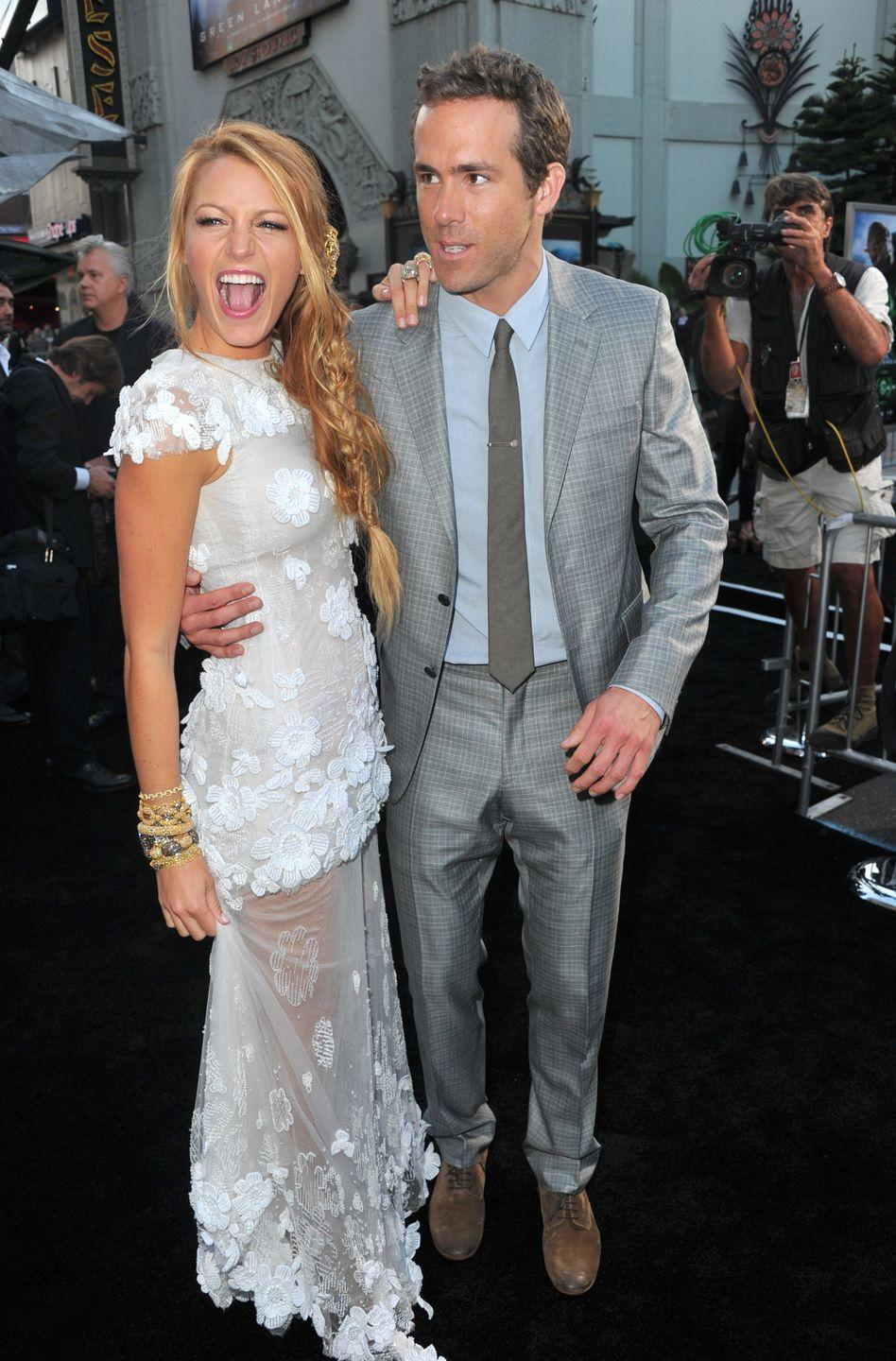 <p>Having been engaged (to Alanis Morissette) and married (to Scarlett Johansson) Reynolds met Lively in 2010 on the set of Green Lantern and they married in 2012. The couple have two daughters together, Inez and James.</p>