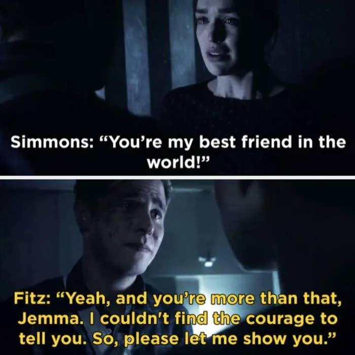 """Simmons: """"You're my best friend in the world,"""" Fitz: """"And you're more than that"""""""