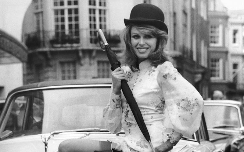 Joanna Lumley claimed the press refused to cover her photocall for The New Avengers unless she put on stockings - Hulton Archive
