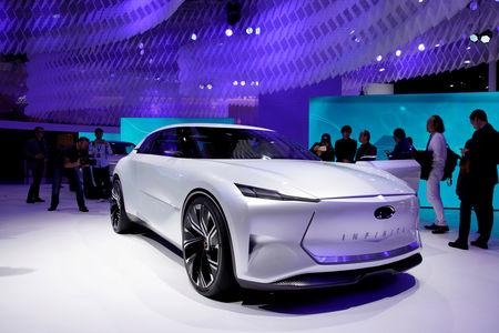 FILE PHOTO: An Infiniti Qs Inspiration concept car is presented during the media day for Auto Shanghai, China April 16, 2019. REUTERS/Aly Song/File Photo