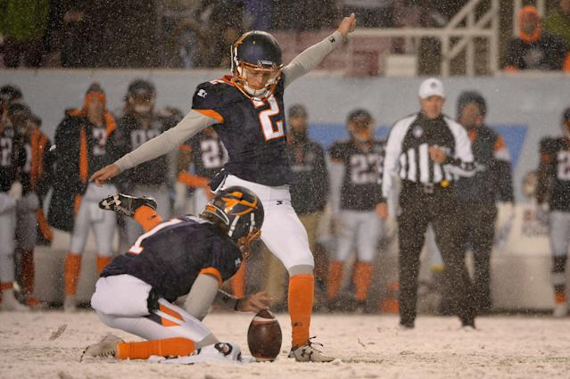 The Bears signed kicker Elliott Fry, who was a perfect 14-for-14 on field goals for the Orlando Apollos. (Photo by Alex Goodlett/AAF/Getty Images)