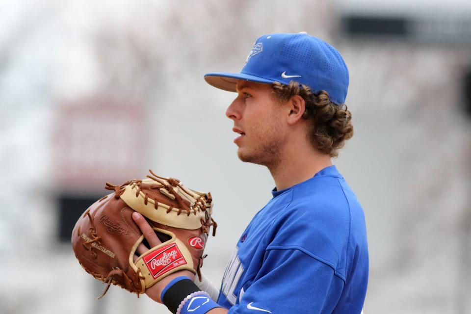 Ryan Costello, a Twins prospect who played for Central Connecticut State in college, was found dead in his New Zealand hotel room over the weekend. (AP Photo/Gregory Payan)