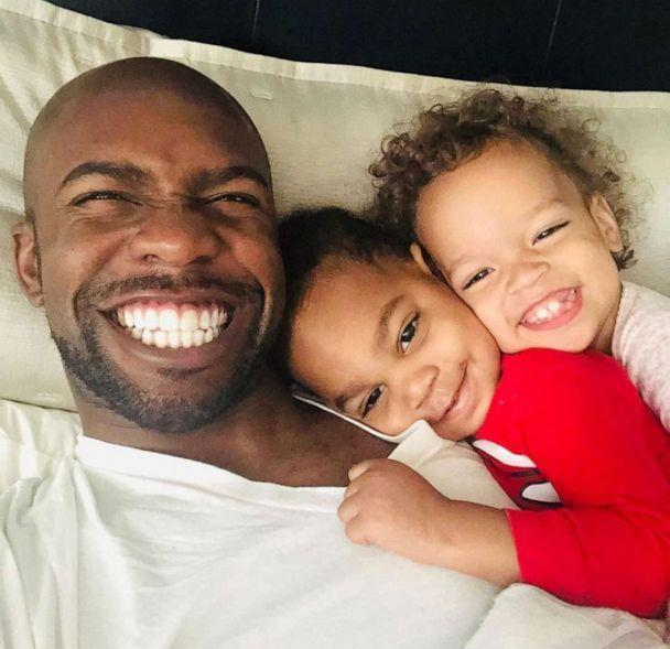 PHOTO: Jarius Joseph poses with son Ashton and daughter Aria in a photo posted to Instagram on Aug. 7, 2019. He said of the arrival of his two kids, 'God's timing is perfect.' (Terrell and Jarius Joseph)