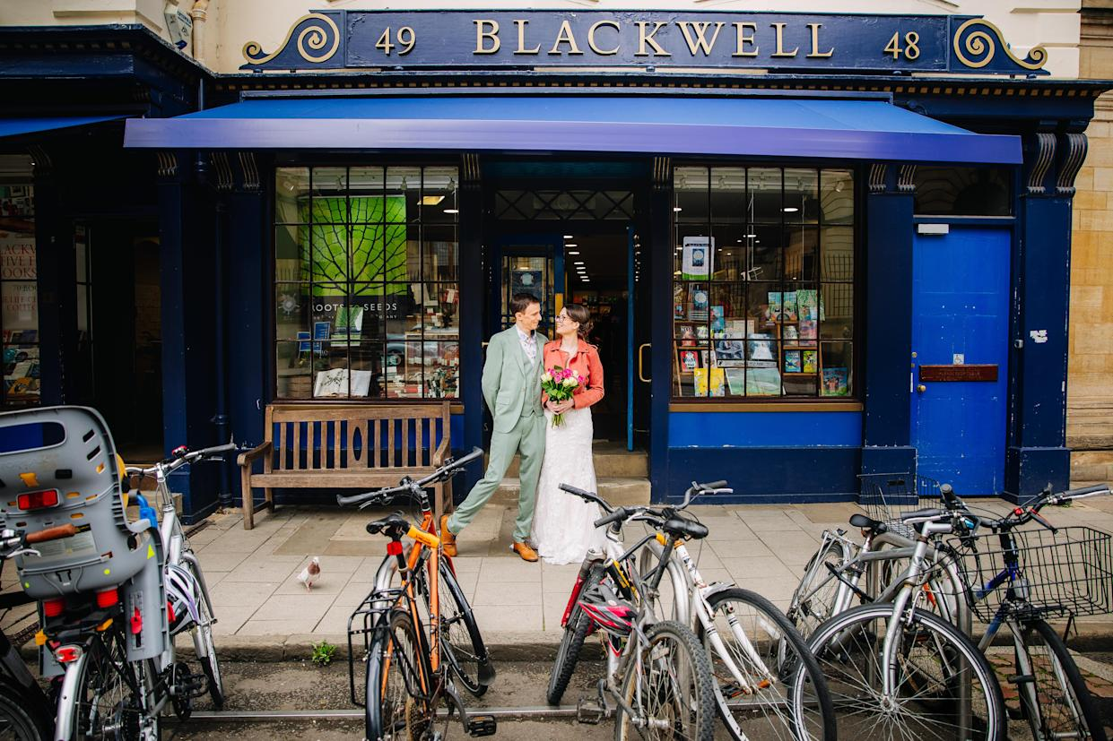 Janine and Joe Shuter at the bookshop (Lucy Judson Photography)