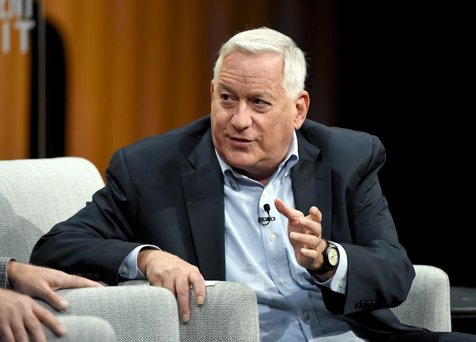 SAN FRANCISCO, CA - OCTOBER 20:  President/CEO of the Aspen Institute, Walter Isaacson, speaks onstage during