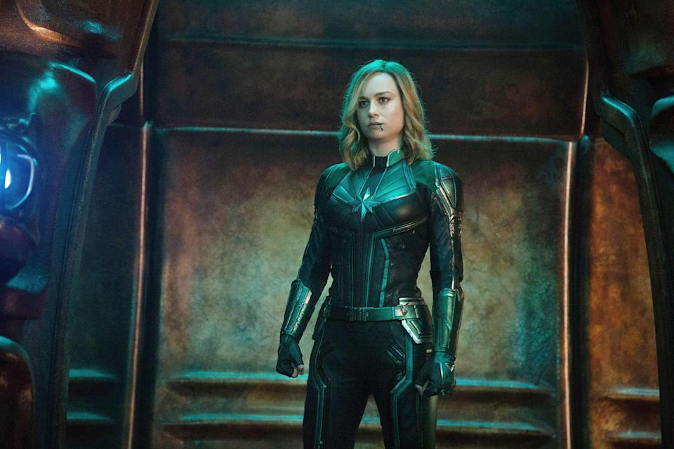 "<p>It took way longer than it should have, but Marvel finally gave audiences the studio's first stand-alone female superhero film with <em>Captain Marvel</em> last year. Led by Brie Larson in the titular role, the film was a <a href=""https://www.glamour.com/story/captain-marvel-broke-box-office-records?mbid=synd_yahoo_rss"" rel=""nofollow noopener"" target=""_blank"" data-ylk=""slk:record-breaking success"" class=""link rapid-noclick-resp"">record-breaking success</a>, earning a cool $455 million worldwide (and counting). </p> <p><a href=""https://www.amazon.com/gp/video/detail/amzn1.dv.gti.8cb49dcc-02ad-78f5-715f-3a100c2b6285?autoplay=1"" rel=""nofollow noopener"" target=""_blank"" data-ylk=""slk:Available to rent on Amazon Prime"" class=""link rapid-noclick-resp""><em>Available to rent on Amazon Prime</em></a></p>"