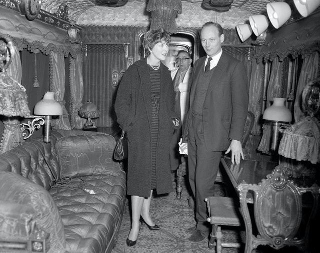 The interior of Queen Victoria's railway coach,