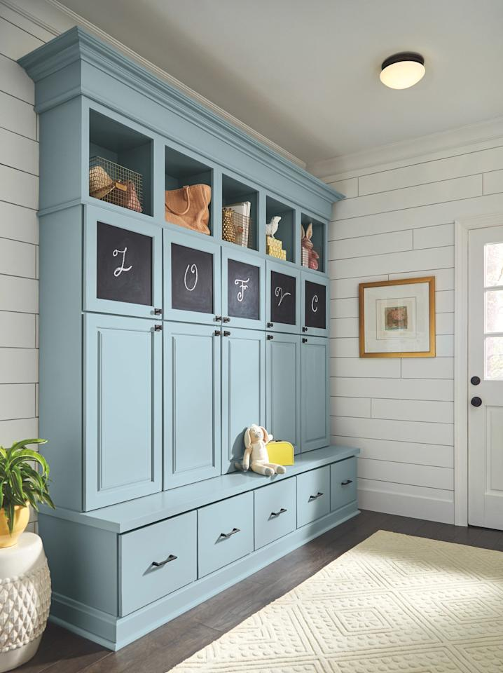 "<p>Few home decor elements or entryway ideas look as effortlessly pulled together as built-ins: They imply that a space was <em>made </em>to be coordinated and tidy. True built-ins are pricy (and permanent), but faking the look of built-ins is always possible, too. If you're willing to put in the time and money for built-ins (faked or otherwise), they're certainly worth the effort. They offer excellent storage with a high-end look and have tons of opportunities for customization. This example, featuring a polished door option from <a href=""https://www.diamondcabinets.com/products/shona"">Diamond cabinets,</a> offers storage space for every member of the household and looks intentional, accomplishing that multitasking entryway goal.</p> <p><strong>RELATED: </strong><a href=""https://www.realsimple.com/home-organizing/organizing/organizing-more-rooms/entryway-ideas-nolan-west-elm"">West Elm's Genius New Mix-and-Match Entryway Idea Will Finally Tame Your Foyer</a></p>"