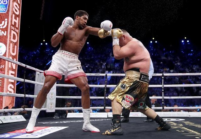 Anthony Joshua, left, last fought nine months ago when he beat Andy Ruiz Jr in their rematch (Nick Potts/PA)