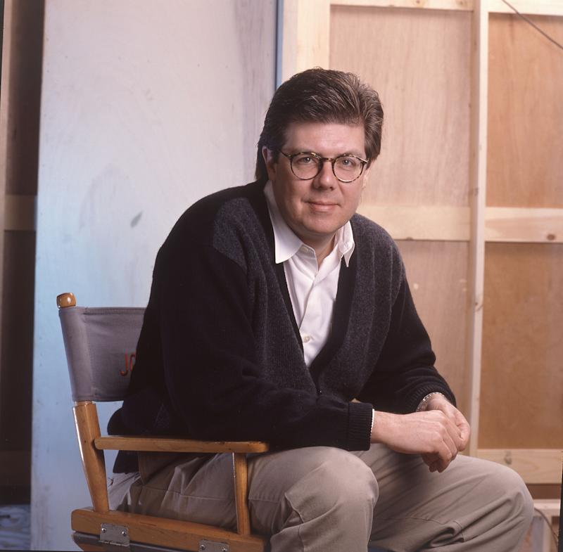 John Hughes on 11/28/90 in Chicago, Il. in Various Locations, (Photo by Paul Natkin/WireImage)