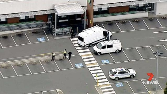 The Arson and Explosives Squad has been called to the Melbourne supermarket. Source: 7 News