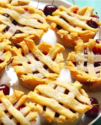 """<p>Who needs a regular cherry pie when you can have a MINI one?</p><p>Get the recipe from <a href=""""https://www.delish.com/cooking/recipe-ideas/recipes/a48376/muffin-tin-cherry-pies-recipe/"""" rel=""""nofollow noopener"""" target=""""_blank"""" data-ylk=""""slk:Delish"""" class=""""link rapid-noclick-resp"""">Delish</a>.</p>"""
