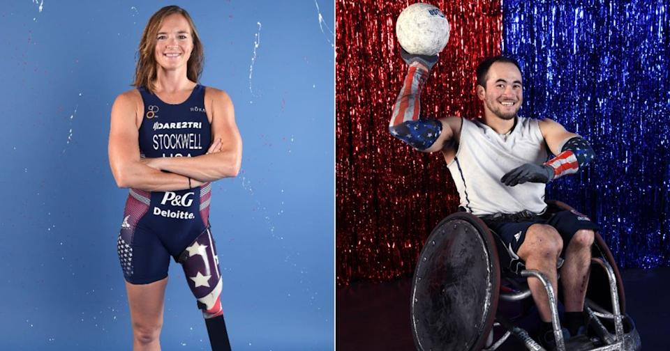 Melissa Stockwell and Chuck Aoki are the Paralympic opening ceremony flag bearers for Team USA.