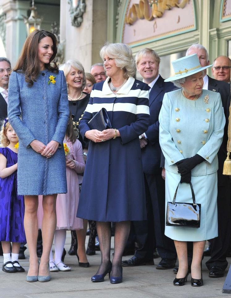 <p>Kate, Camilla and the Queen have a girls day out at Fortnum & Mason. <em>[Photo: PA]</em> </p>