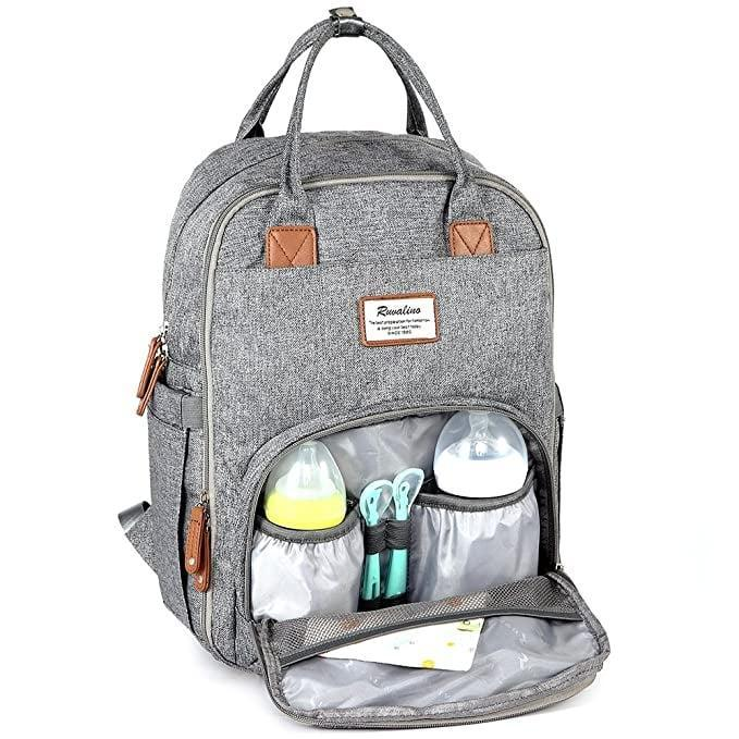 <p>The best-selling <span>RUVALINO Multifunction Travel Backpack</span> ($40) is a versatile, durable, and convenient option. The unisex design is perfect for any parent to use!</p>