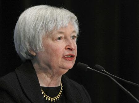 File photo of Federal Reserve Vice Chair Janet Yellen addressing a conference in Washington