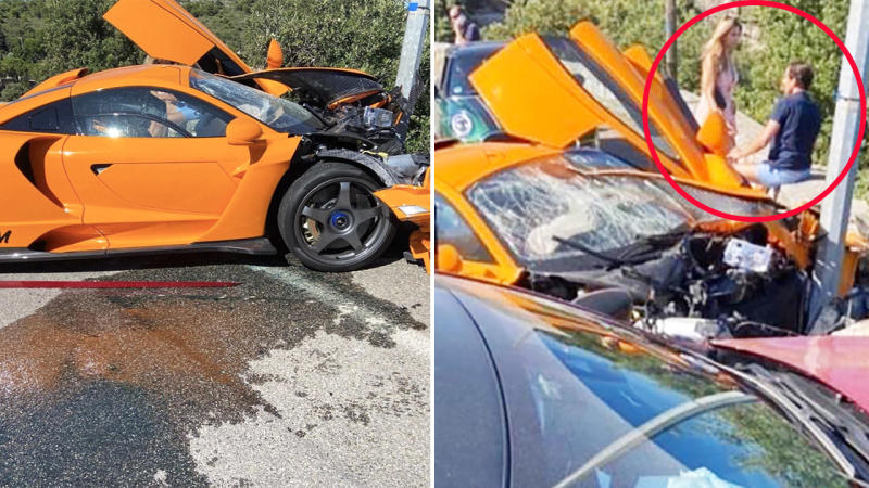 Adrian Sutil, pictured here after crashing his $2.2 million supercar in Monaco.