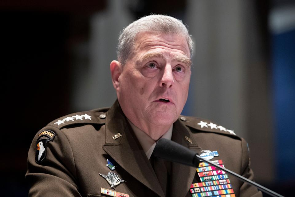 Chairman of the Joint Chiefs of Staff Gen. Mark Milley testifies during a House Armed Services Committee hearing on Thursday. (Photo: ASSOCIATED PRESS)