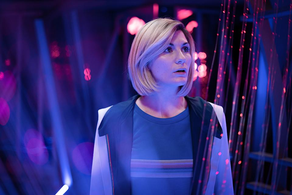 Jodie Whittaker in 'Doctor Who'. (Credit: BBC/James Pardon)