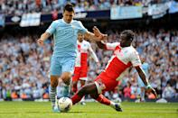 The Seitiro saw a change in momentum in the Premier League. Manchester City were crowned champions for the first time and they did so in the most dramatic fashion. Sergio Aguero sealing it with the final kick of the game, in the final game of the season. (Photo by Ed Garvey/Manchester City FC via Getty Images)