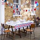 """<p>Go for stylish vintage vibes by using mismatch items and LOTS of bunting. <i><a href=""""https://uk.pinterest.com/pin/246783254552472080/"""" rel=""""nofollow noopener"""" target=""""_blank"""" data-ylk=""""slk:[Photo: Pinterest]"""" class=""""link rapid-noclick-resp"""">[Photo: Pinterest]</a></i></p>"""