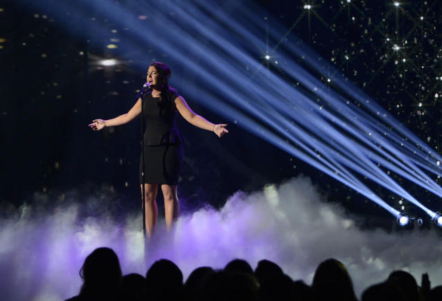 "Kree Harrison performs ""Have You Ever Been in Love"" on the Wednesday, April 17 episode of ""American Idol."""