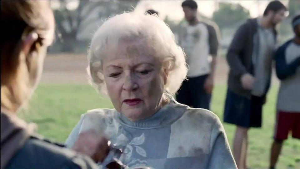 "<p>We all know that you're not you when you're hungry. But if we're going to be hungry, we'd at least like to be Betty White. The 2012 Superbowl commercial feature the actress getting down, dirty, and talking trash. ""Playing like Betty White"" is <em>supposed</em> to be an insult but...</p>"