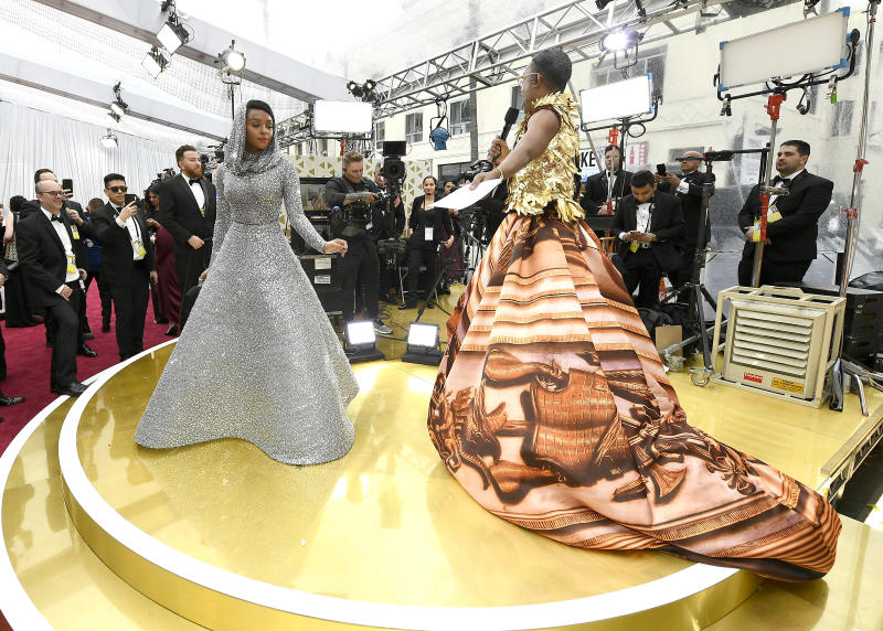 HOLLYWOOD, CALIFORNIA - FEBRUARY 09: Janelle Monáe and Billy Porter attend the 92nd Annual Academy Awards at Hollywood and Highland on February 09, 2020 in Hollywood, California. (Photo by Kevork Djansezian/Getty Images)