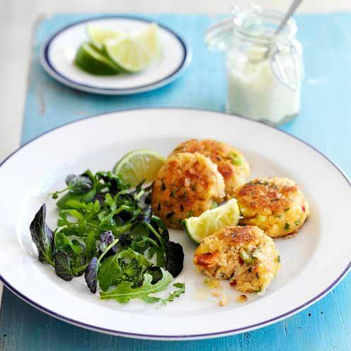 """<p>These crab cakes can be assembled up to 3hr in advance. Once the cakes are made, cover and chill, then bring up to room temperature before cooking.</p><p><strong>Recipe: <a href=""""https://www.goodhousekeeping.com/uk/food/recipes/a535510/crispy-crab-cakes-recipe/"""" rel=""""nofollow noopener"""" target=""""_blank"""" data-ylk=""""slk:Crispy Crab Cakes"""" class=""""link rapid-noclick-resp"""">Crispy Crab Cakes</a></strong></p>"""