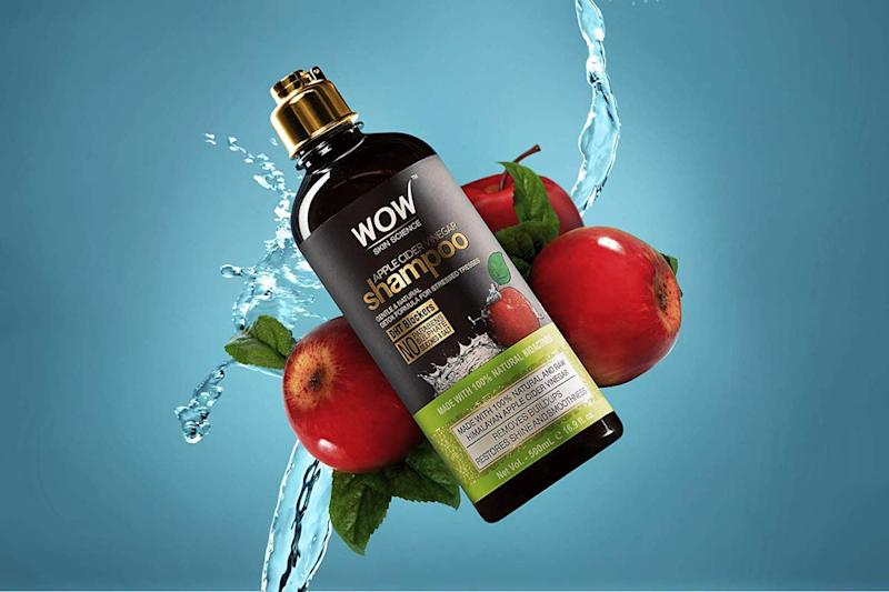 WOW Apple Cider Vinegar Shampoo clarifies your stands and detoxifies your scalp, paving the way for healthy hair growth. (Photo: Amazon)