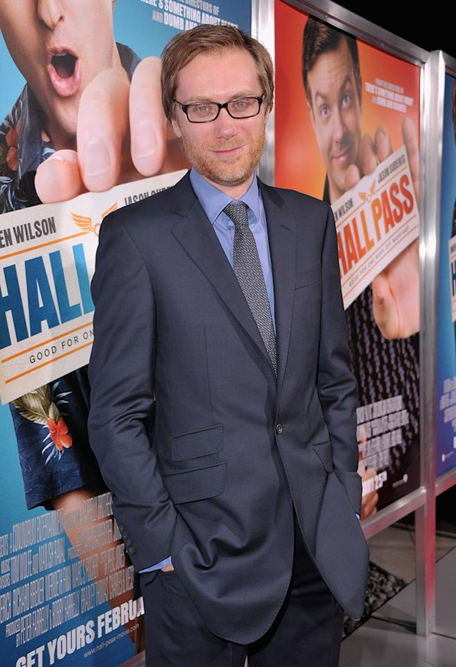 "<a href=""http://movies.yahoo.com/movie/contributor/1808458220"">Stephen Merchant</a> attends the Los Angeles premiere of <a href=""http://movies.yahoo.com/movie/1810133702/info"">Hall Pass</a> on February 23, 2011."