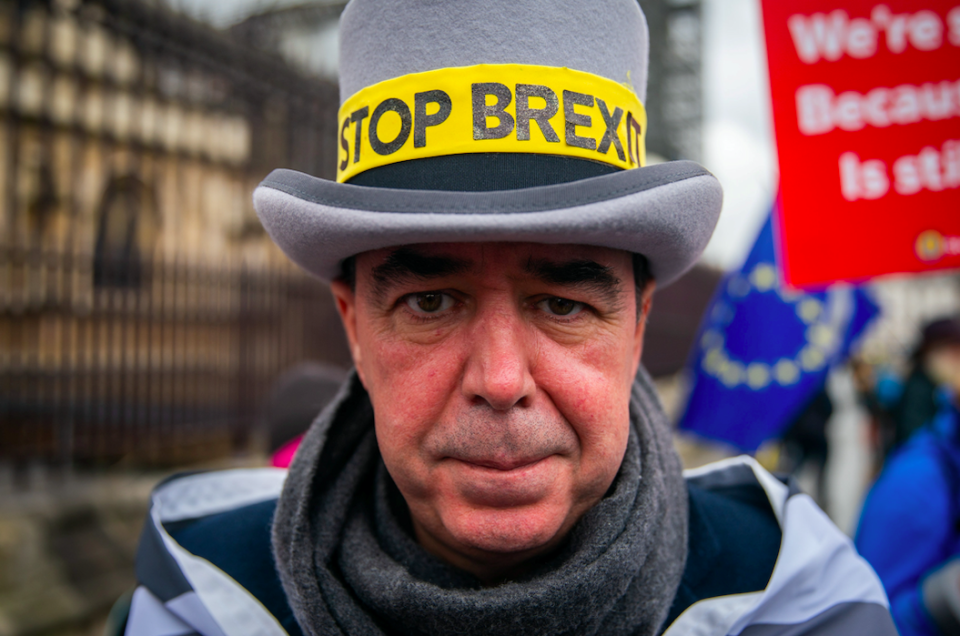 Steve Bray has finally admitted defeat in his campaign against Brexit (SWNS)