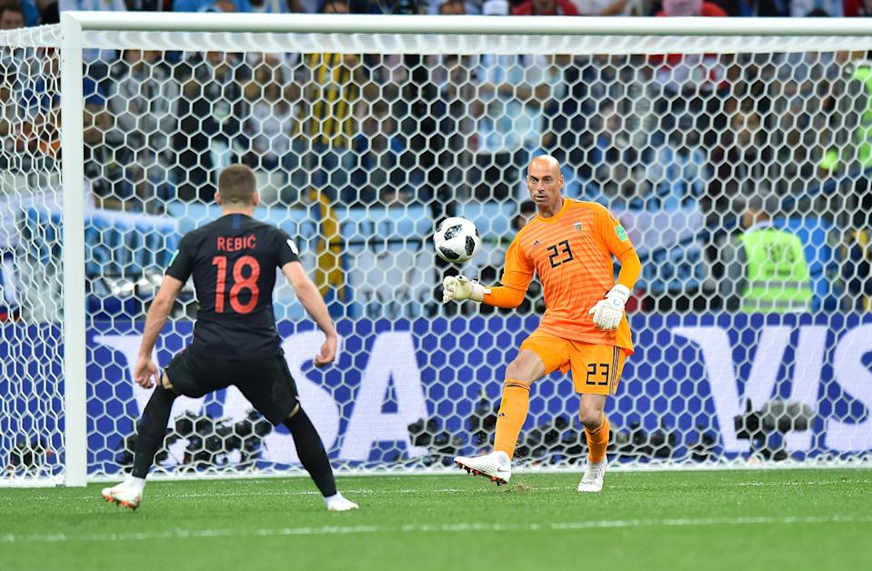 What was he thinking: Croatia go ahead as the Argentina keeper goes missing