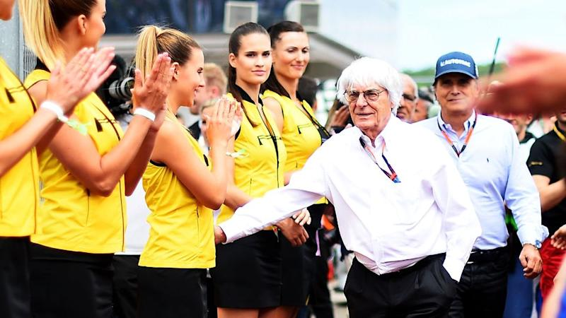Ecclestone is not a fan of the decision to stop using grid girls. Pic: Getty