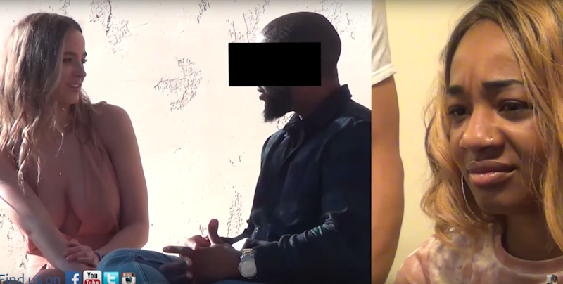 A girl set up her boyfriend with a blonde model to see if he would cheat on her. Photo: YouTube/To Catch a Cheater