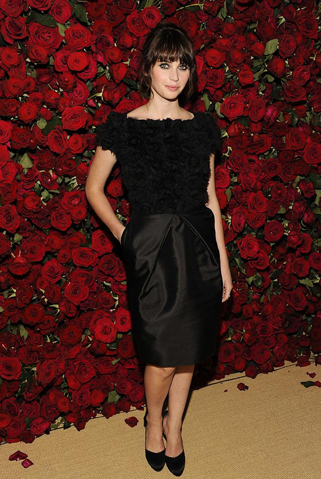 """<a href=""""http://movies.yahoo.com/movie/contributor/1804503608"""">Felicity Jones</a> attends the Museum of Modern Art's 4th annual film benefit """"A Tribute to Pedro Almodovar"""" at the Museum of Modern Art on November 15, 2011 in New York City."""