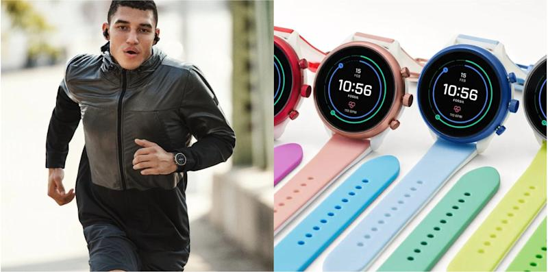 Fossil's smartwatches.